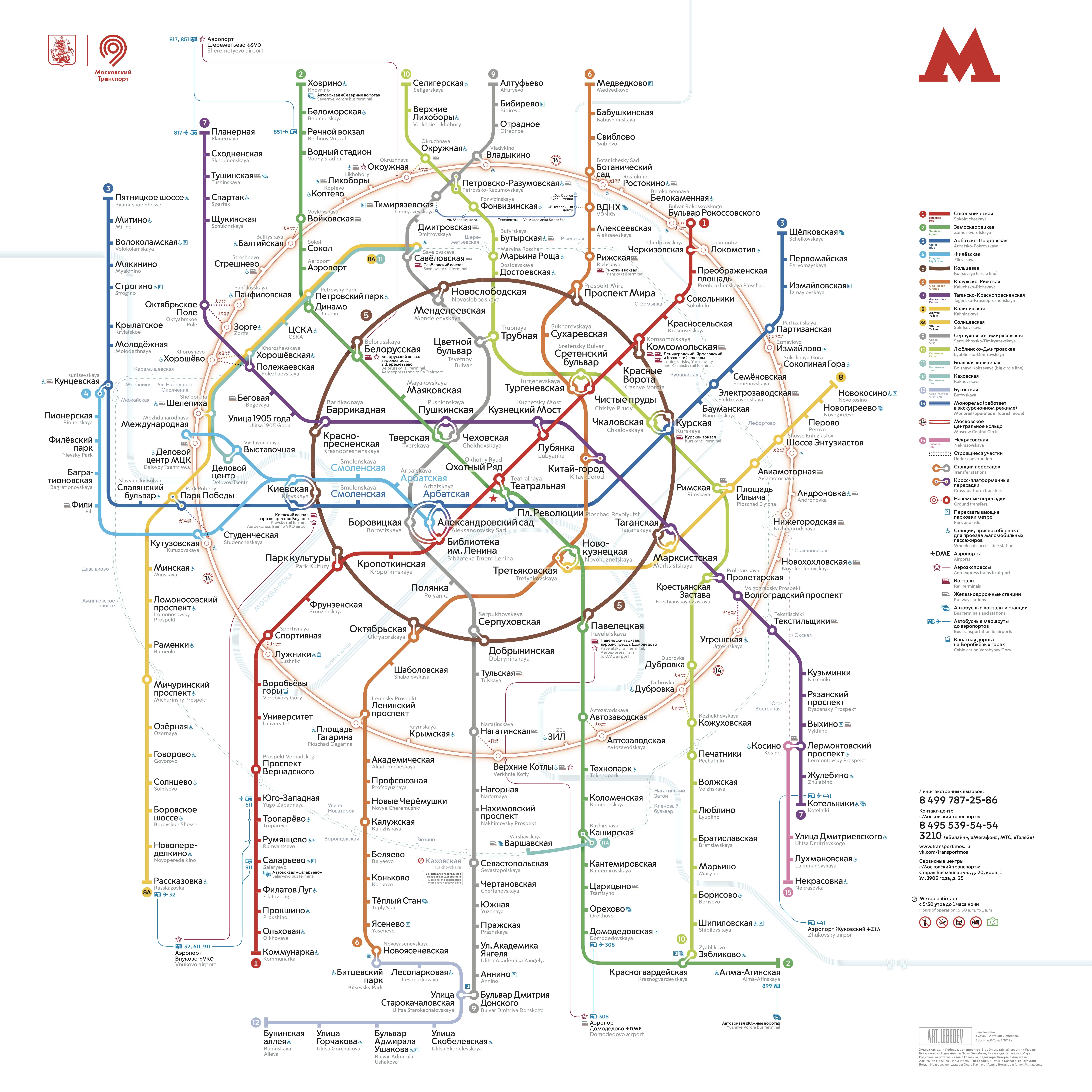 Солнцевская линия метро схема