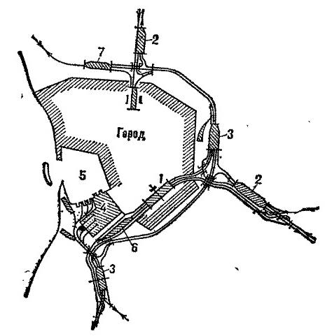 Схема узла полукольцевого