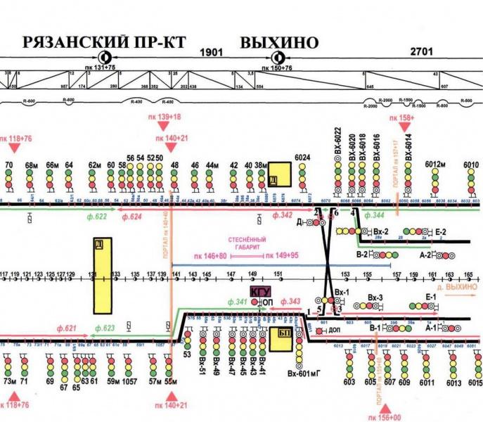 Станция метро выхино схема выходов