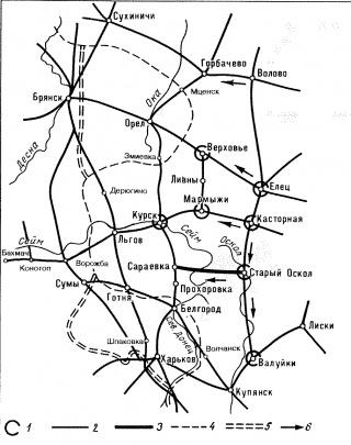 Схема железнодорожных линий